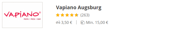 VAPIANO Hamburg Augsburg