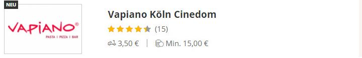 VAPIANO Köln Cinedom