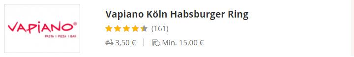 VAPIANO Köln Habsburg