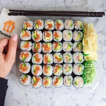 Colorful maki box