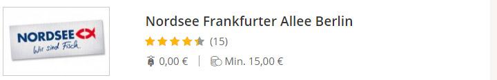 NORDSEE Frankfurter Allee Berlin