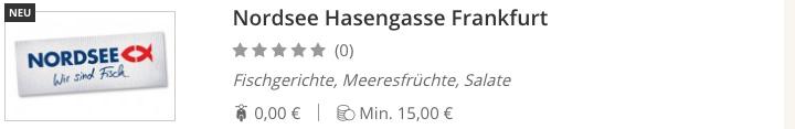 NORDSEE Hasengasse Frankfurt am Main