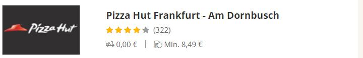 Pizza Hut Am Dornbusch Frankfurt
